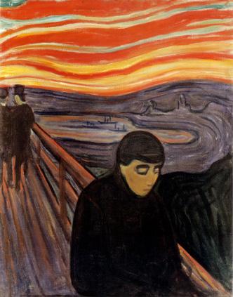 Despair, 1894 by Edvard Munch
