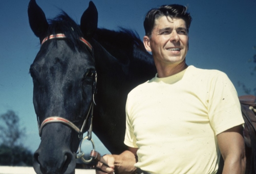 reagan-ronald-with-horse