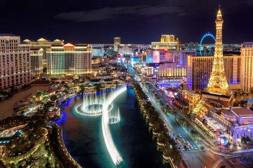 Las Vegas strip, Aerial view