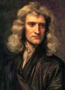 Newton, Sir Isaac 1689 by Godfrey Kneller pd