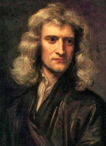 Newton, Sir Isaac 1689 by Godfrey Kneller pd
