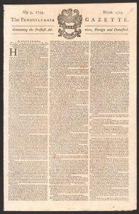 Pennsylvania Gazette PD Lib of Cong