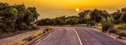 asphalt countryside curve daylight